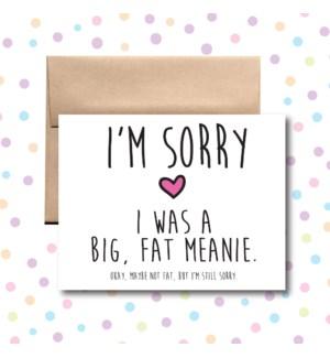 Big Fat Meanie Greeting Card