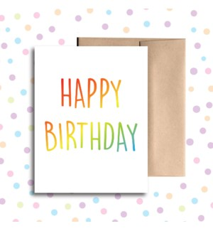 Birthday Rainbow Greeting Card
