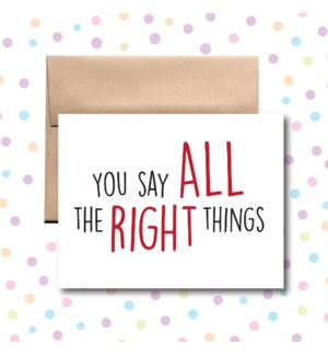 All the Right Things Greeting Card