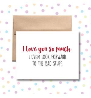 Bad Stuff Greeting Card