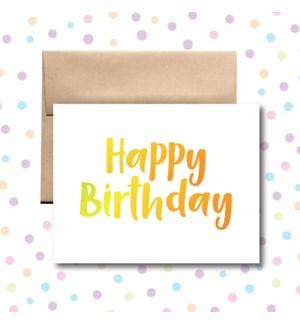 Birthday Orange Yellow Greeting Card
