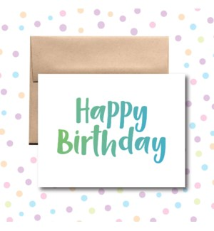 Birthday Green and Blue Greeting Card