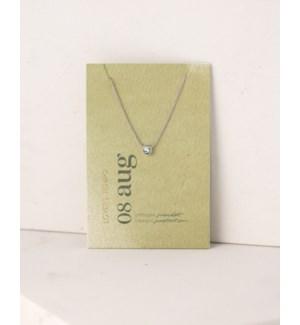 August Kaleidoscope Birthstone Necklace