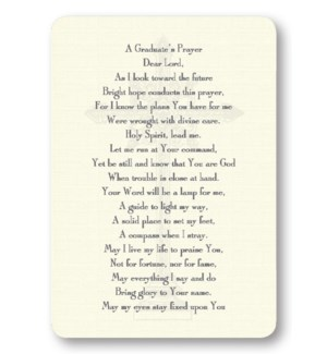 A Graduate's Prayer