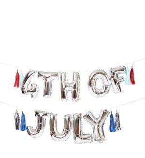 4th July Balloon Garland