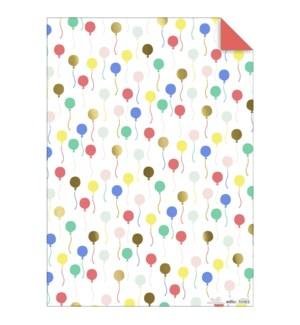 Balloon Gift Wrap Sheets - 45-4960