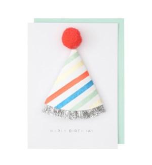 1st Birthday Hat Card