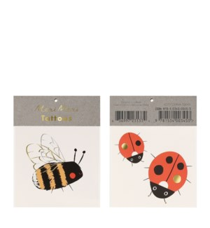 Bee & Ladybird Small Tattoos