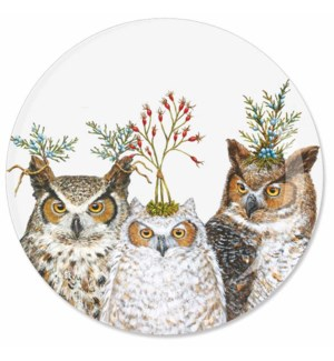 """7"""" APPETIZER PLATE - HOLIDAY HOOT"""