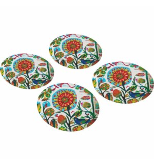 BAMBOO PLATE SET (4)-QUITO