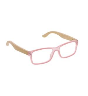 Al Fresco - pink/wood +2.75