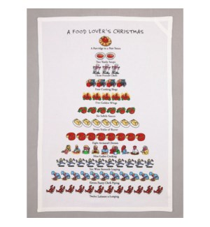 A Food Lover's Christmas Print Kitchen Towel