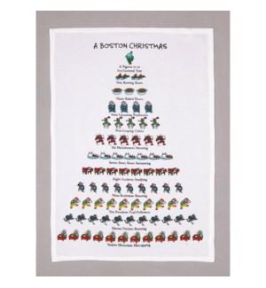 A Boston Christmas Print Kitchen Towel