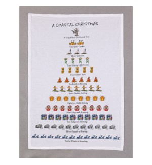 A Coastal Christmas Print Kitchen Towel