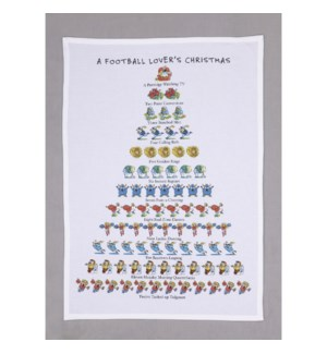 A Football Lover's Christmas Print Kitchen Towel