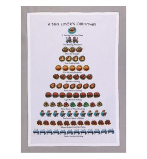 A BBQ Lover'S Christmas Print Kitchen Towel