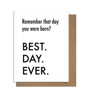 BDE Born Greeting Card