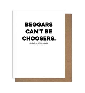 Beggars Greeting Card