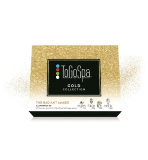 GOLD COLLECTION BOX- GIFT BOX THAT INCLUDES 4 EYE, 2 FACE, 2 NECK, AND 2 LIP