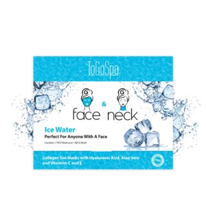 ICE WATER FACE AND NECK 10 PACK - 10 EACH MASK