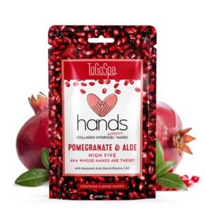 POMEGRANATE + ALOE HANDS- 10 EACH MASK