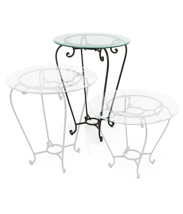 """Large Table, 30"""" Glass"""