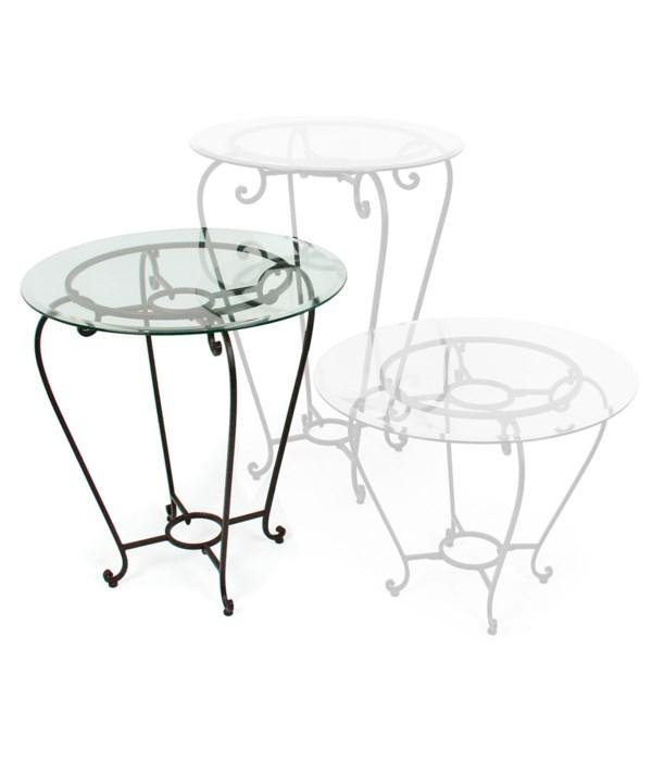 "Medium Table, 30"" Glass"