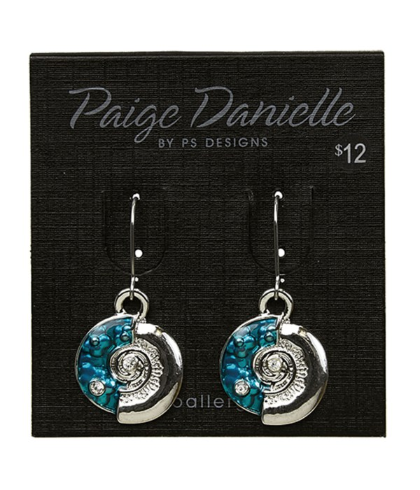 Earring, Silver and Blue