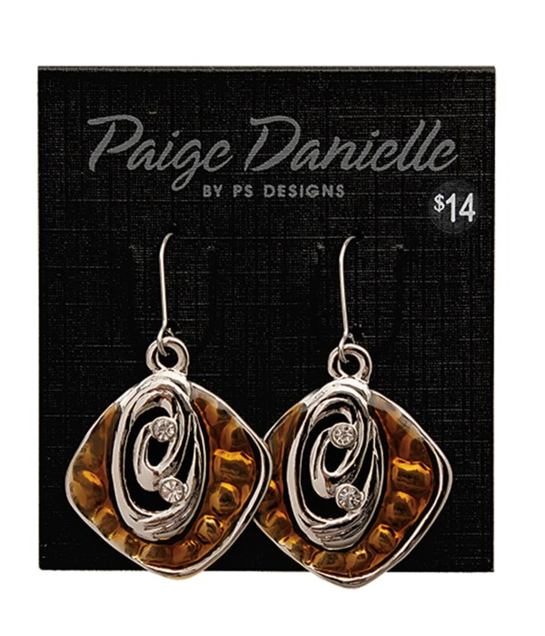 Earring, Silver and Amber