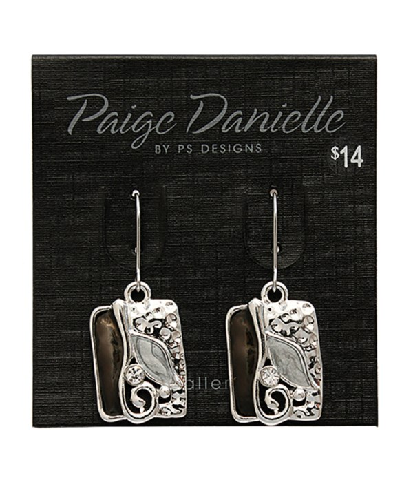 Earring, Silver and Black