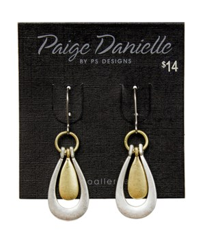 Earring, Silver and Gold