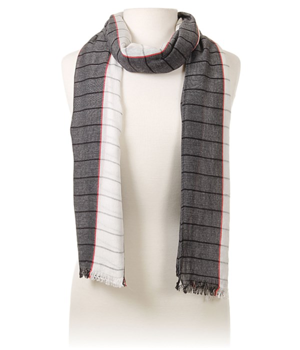 Fall Cique Scarf, Black and White