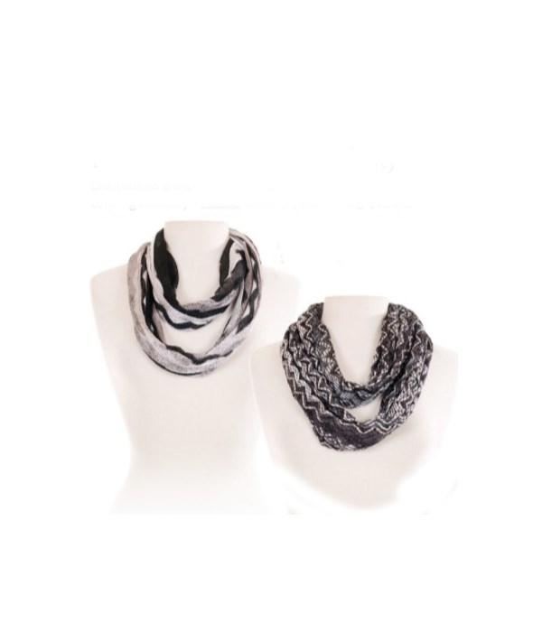 Black & White Chevron Infinity Collection