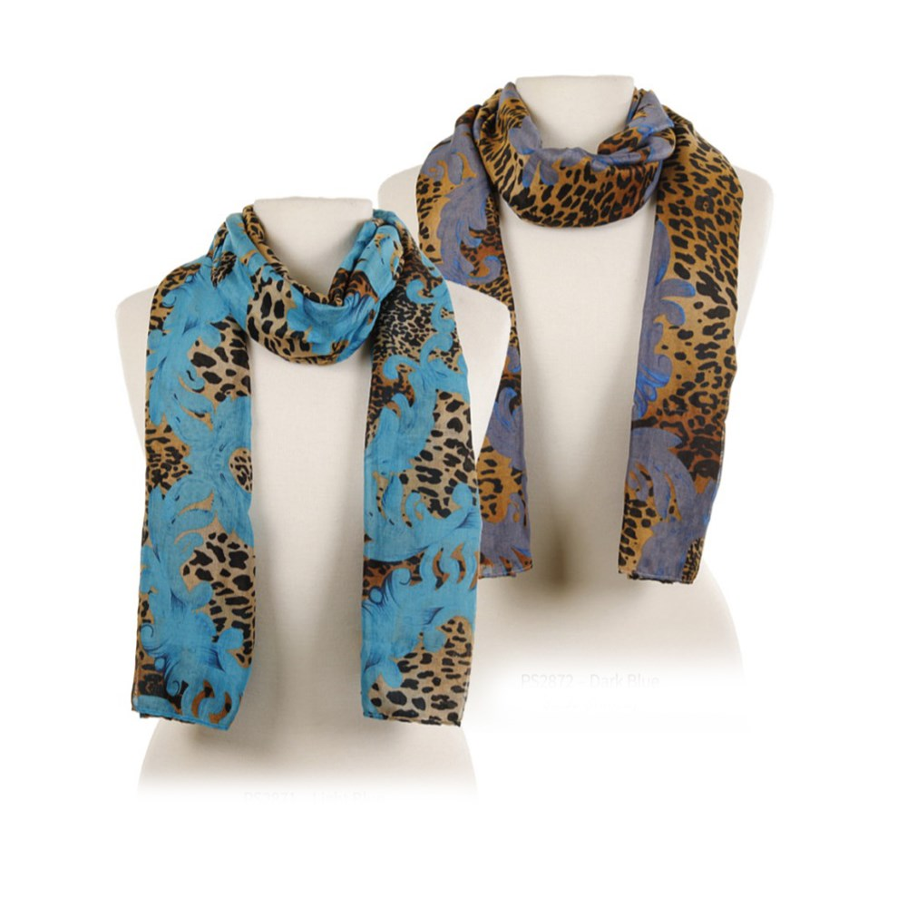 Blue Leopard Scarf Collection