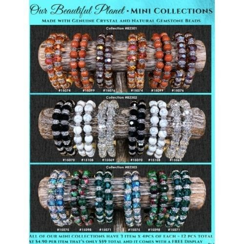 OUR BEAUTIFUL PLANET STRETCHY BRACELET MINI COLLECTION