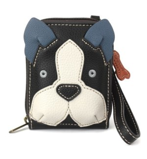 Cute-C - Credit Card Holder / Wallet Wristlet - Boston Terrier