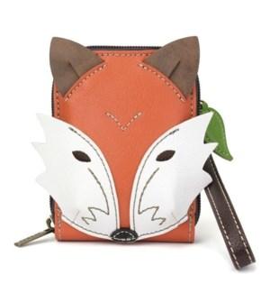 Cute-C - Credit Card Holder / Wallet Wristlet - Fox