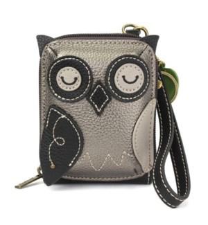 Cute-C - Credit Card Holder / Wallet Wristlet - Owl