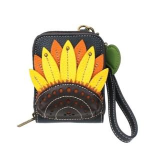 Cute-C - Credit Card Holder / Wallet Wristlet - Sunflower