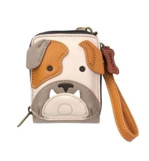 Cute-C - Credit Card Holder / Wallet Wristlet - Bulldog