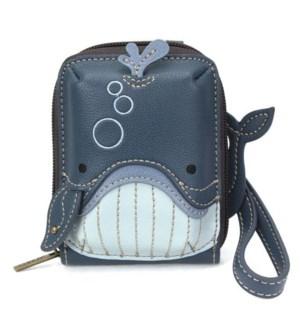Cute-C - Credit Card Holder / Wallet Wristlet - Whale