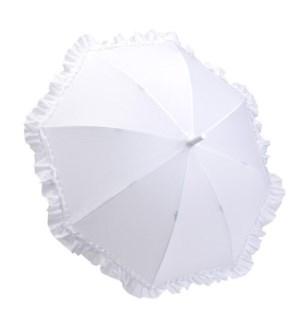 Kid's Ruffle Umbrella-White