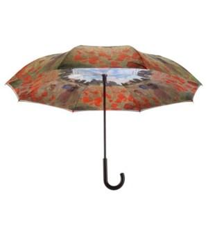 Poppy Field  Stick Umbrella RC