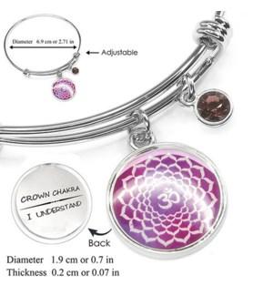 Chakra (Energy Points) Silver Bracelets-Crown Chakra (Wisdom) / UPC= 684500056080