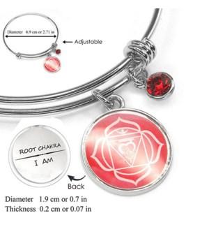 Chakra (Energy Points) Silver Bracelets-Root Chakra (Courage) / UPC= 684500056103