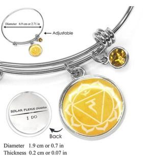 Chakra (Energy Points) Silver Bracelets-Solar Plexus Chakra (Power) / UPC= 684500056127