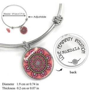 Mandala Pink- Rhodonite / UPC= 684500055779