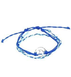 Wave - 2 Rope braided Bracelet Dark blues / UPC= 684500076804