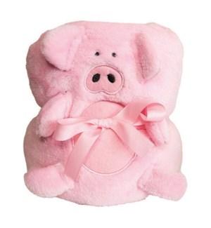 FLEECE ROLLUP BLANKET - PIG