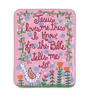 JESUS LOVES ME  BIRD PINK